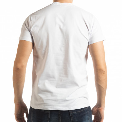 Мъжка бяла тениска Sound tsf190219-69 3
