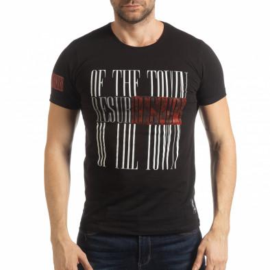 Черна мъжка тениска Resurrection  tsf190219-52 2