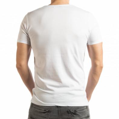 Бяла мъжка тениска Criticize tsf190219-63 3