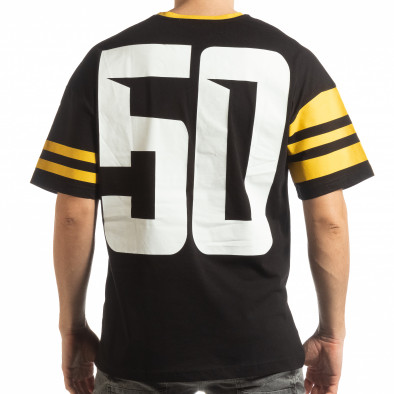 Черна мъжка тениска The Wave tsf190219-37 3
