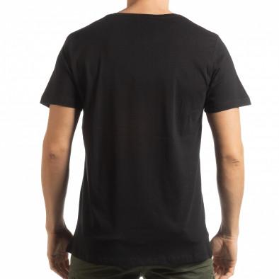Мъжка черна тениска с камуфлажен череп tsf190219-6 3