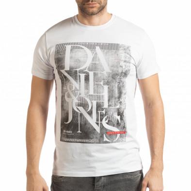 Мъжка тениска Denim Company в бяло tsf190219-85 2