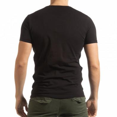 Черна мъжка тениска She Is What tsf190219-65 3