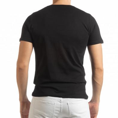 Мъжка черна тениска Amsterdam 96 tsf190219-1 3