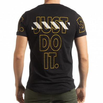 Мъжка тениска Just do it в черно tsf190219-59 3