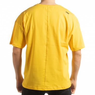 Жълта мъжка тениска Imagination tsf190219-33 3