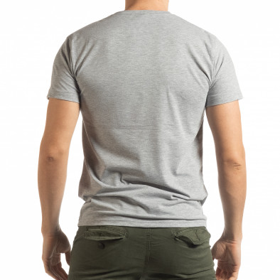Мъжка сива тениска Chronograph tsf190219-77 3