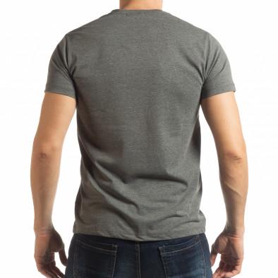 Мъжка тениска Denim Company сив меланж tsf190219-84 3