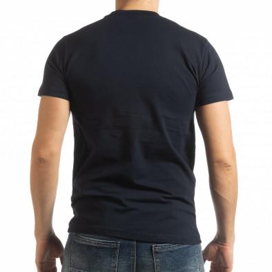 Мъжка тъмносиня тениска Sound tsf190219-68 3
