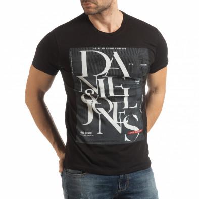 Мъжка тениска Denim Company в черно tsf190219-86 2