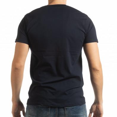 Тъмносиня мъжка тениска Enjoy Your Life tsf190219-74 3
