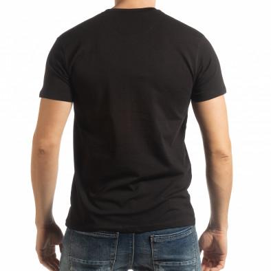 Мъжка тениска Denim Company в черно tsf190219-86 3