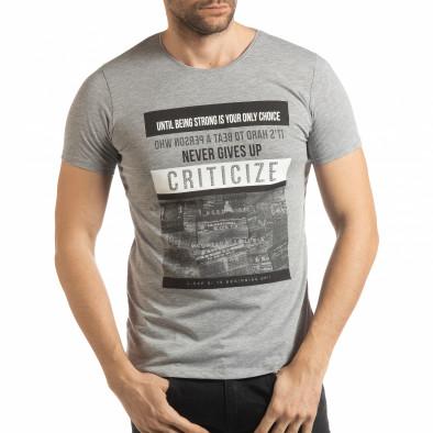 Сива мъжка тениска Criticize tsf190219-61 2