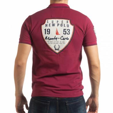 Мъжка тениска polo shirt Royal cup в бордо tsf190219-90 3