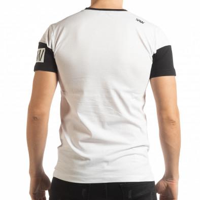 Бяла мъжка тениска Money tsf190219-41 3