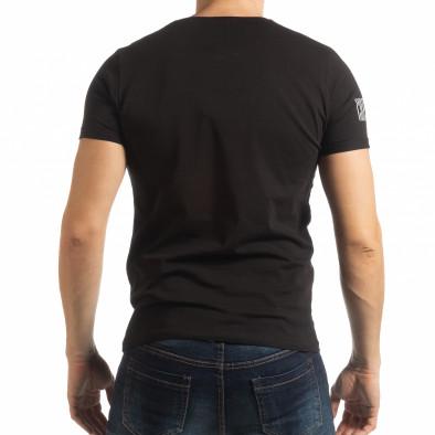 Черна мъжка тениска Resurrection  tsf190219-52 3