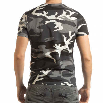 Лека мъжка тениска сив камуфлаж tsf190219-5 4
