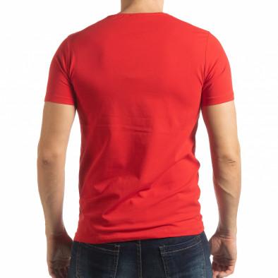 Червена мъжка тениска ART tsf190219-3 3