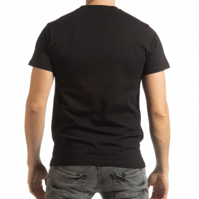 Мъжка черна тениска Chronograph tsf190219-76 3