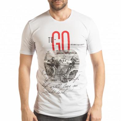 Мъжка тениска в бяло To-Go tsf190219-25 2