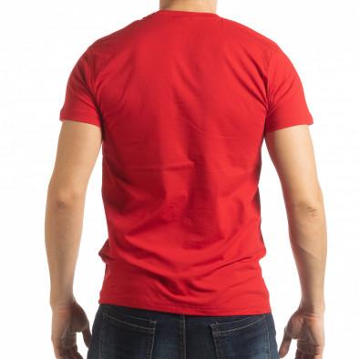 Мъжка червена тениска Sound tsf190219-67 3