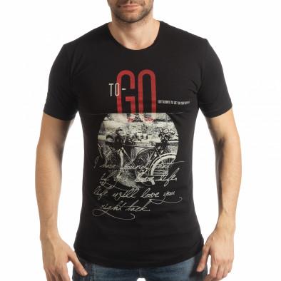 Мъжка тениска в черно To-Go tsf190219-24 2