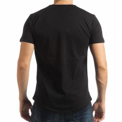 Мъжка тениска в черно с пикселиран принт tsf190219-20 3