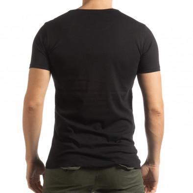 Черна мъжка тениска с принт Lagos Style tsf190219-54 3