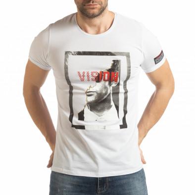 Бяла мъжка тениска Vision tsf190219-10 2