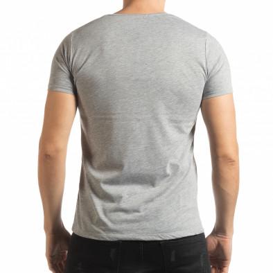 Сива мъжка тениска Criticize tsf190219-61 3