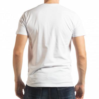 Бяла мъжка тениска Street Run tsf190219-82 3