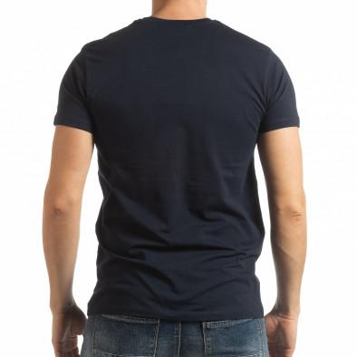 Мъжка тениска Denim Company в синьо tsf190219-88 4