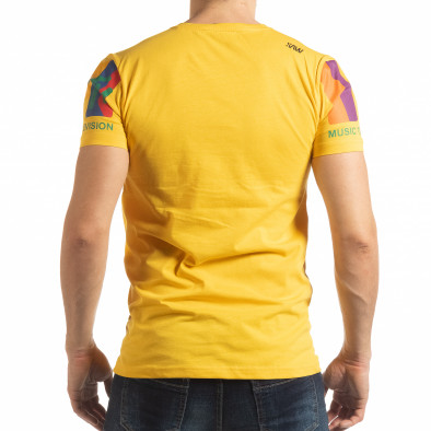 Мъжка жълта тениска MTV Life tsf190219-36 3