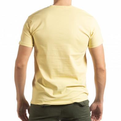 Мъжка тениска Denim Company в жълто tsf190219-87 3