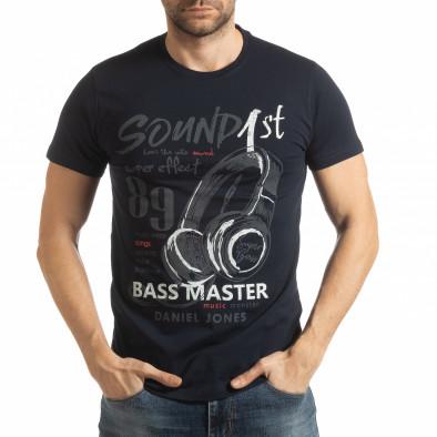Мъжка тъмносиня тениска Sound tsf190219-68 2