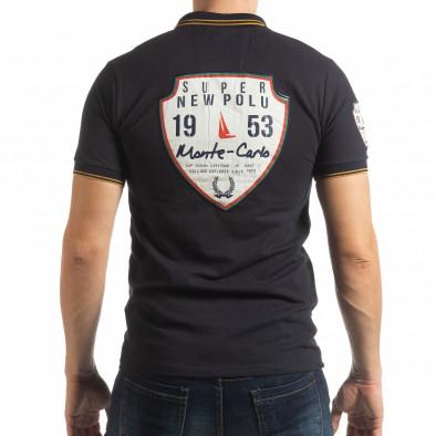 Мъжка тениска polo shirt Royal cup в тъмно синьо tsf190219-89 3