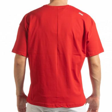 Червена мъжка тениска Imagination tsf190219-31 3
