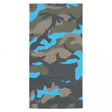Плажна кърпа синьо-зелен камуфлаж tsf120416-13 2