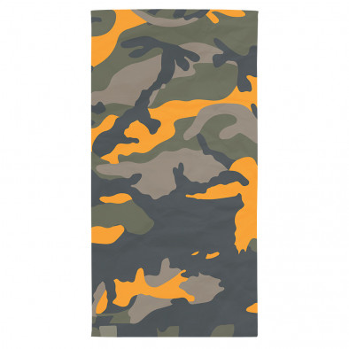 Супер хитова плажна кърпа оранжево-зелен камуфлаж tsf120416-15 2