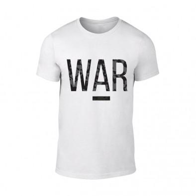 Мъжка бяла тениска War TMN-M-081 2