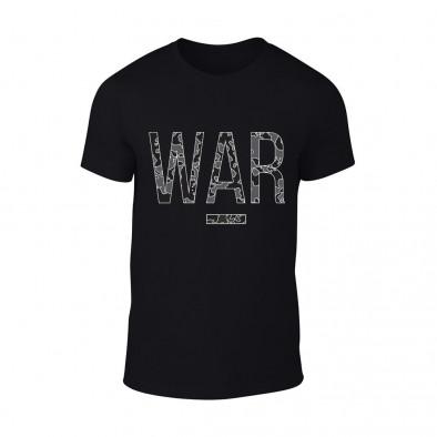 Мъжка черна тениска War TMN-M-082 2