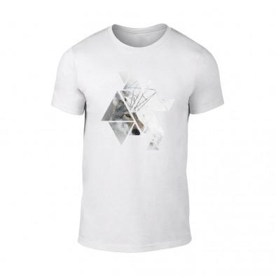 Мъжка бяла тениска Wolf TMN-M-195 2