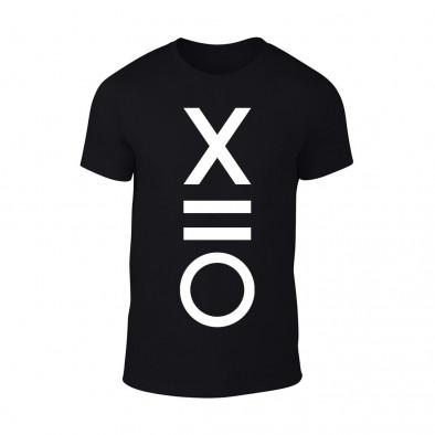 Мъжка черна тениска XO TMN-M-084 2