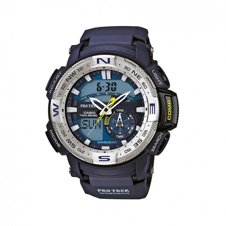 Мъжки часовник Casio Pro Trek син с термометър