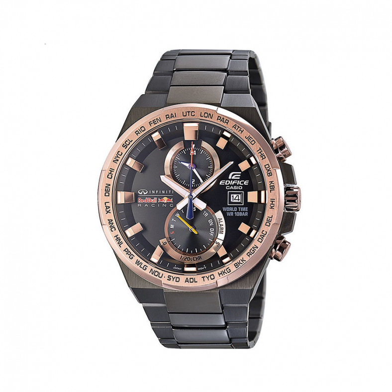 Мъжки часовник Casio Edifice черен браслет Infiniti Red Bull Racing