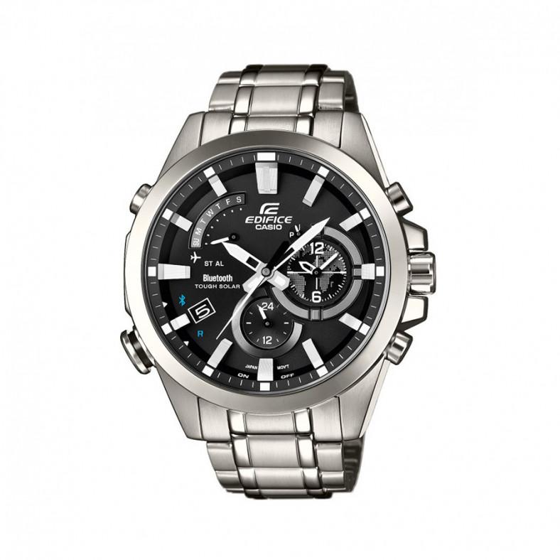 Мъжки часовник Casio Edifice сребрист браслет с индикатор за e-mail