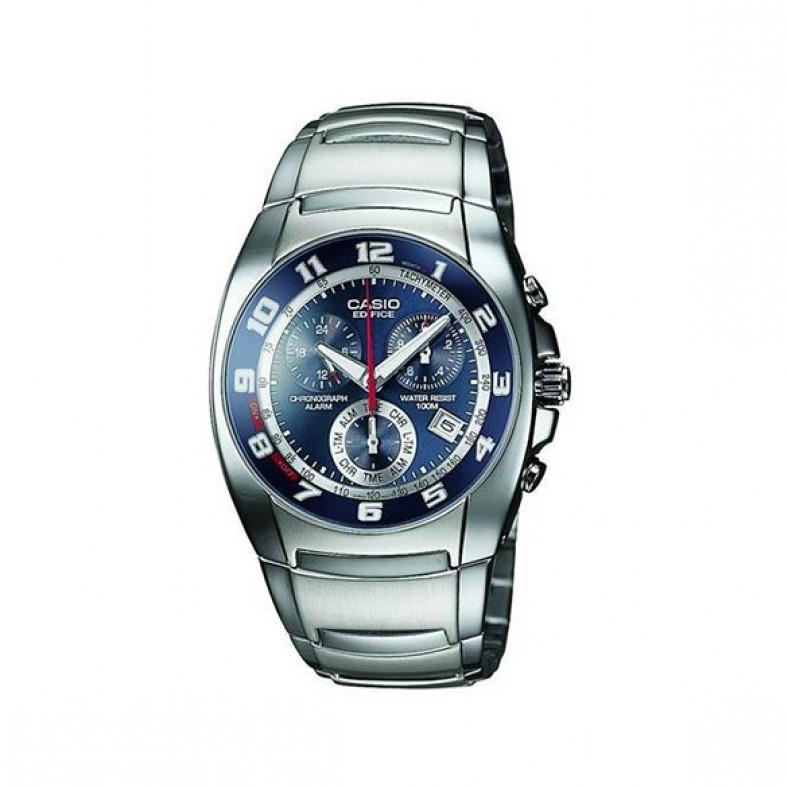 Мъжки часовник Casio Edifice златист браслет с циферблат в синьо