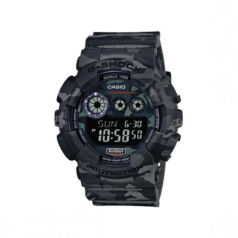 Мъжки спортен часовник Casio G-SHOCK сив камуфлаж