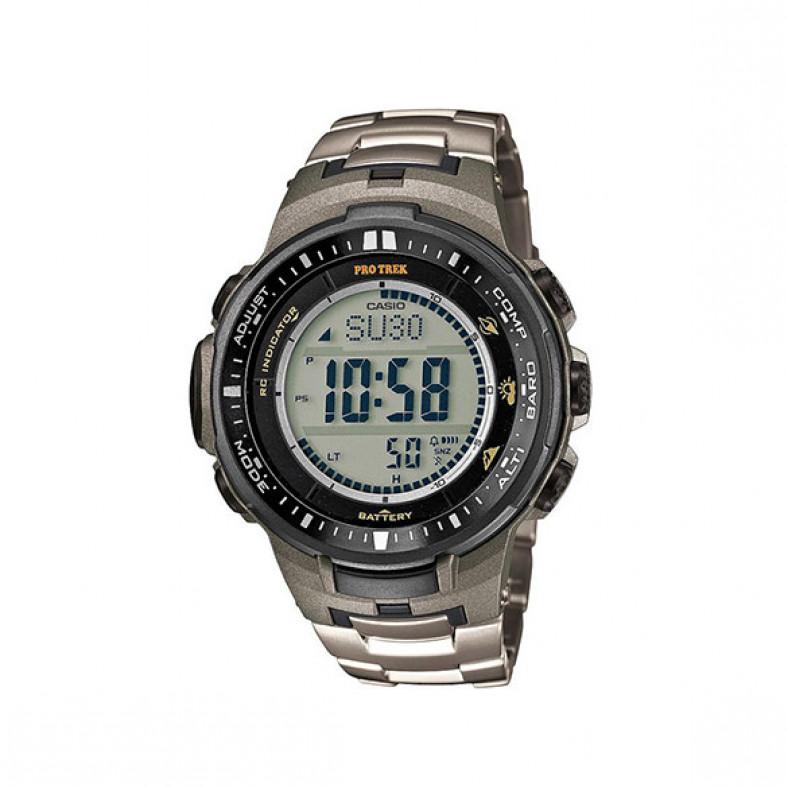Мъжки часовник Casio Pro Trek титаниев сребрист браслет