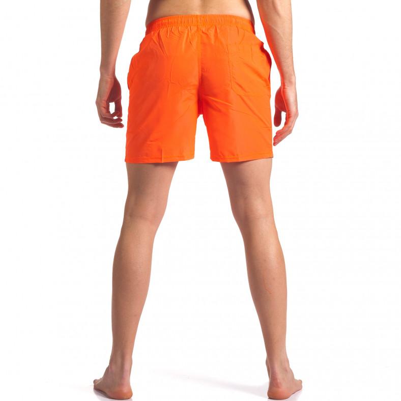 Неоново оранжеви мъжки бански с лого Graceful 4